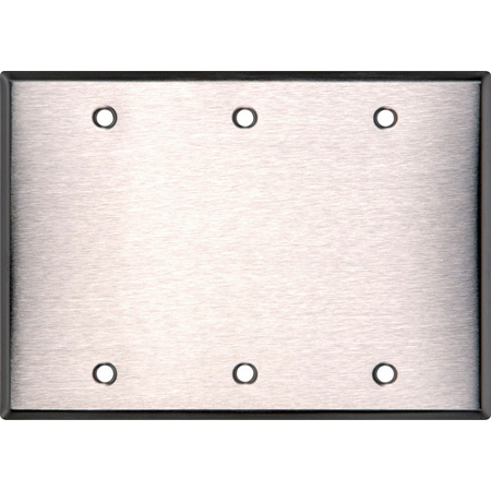 BlankTriple Gang Black Anodized Aluminum Wall Plate