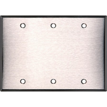 BlankTriple Gang Brass Wall Plate