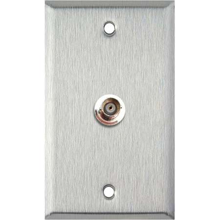 1G Clear Anodized Aluminum Wall Plate with 1-BNCF Barrel