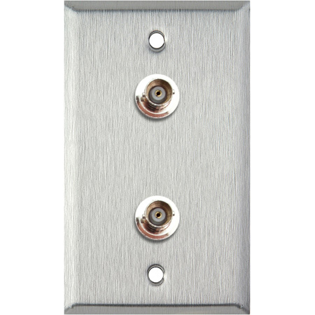 1-Gang Grey Lexan Wall Plate with 2 BNCF Barrels