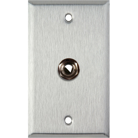 1G Clear Anodized Aluminum Wall Plate with 1 1/4-Inch TRS Phone Jack