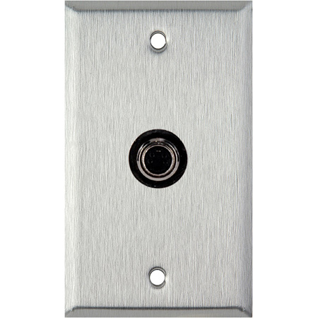 1-Gang Black Anodized Aluminum Wall Plate with 1 S-Video 4-Pin Barrel