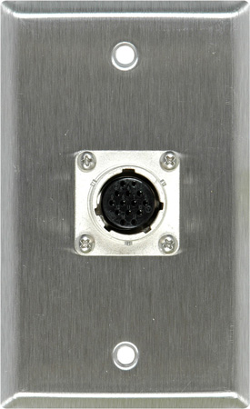 1-Gang White Lexan Plate with EIAJ 14-Pin Female Connector