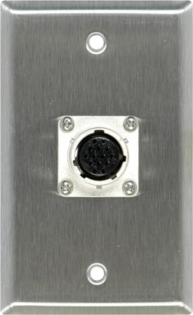 1-Gang Stainless Plate with EIAJ 14-Pin Female Connector