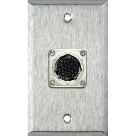 1-Gang Gray Lexan Wall Plate with  EIAJ 26-Pin Female Connector