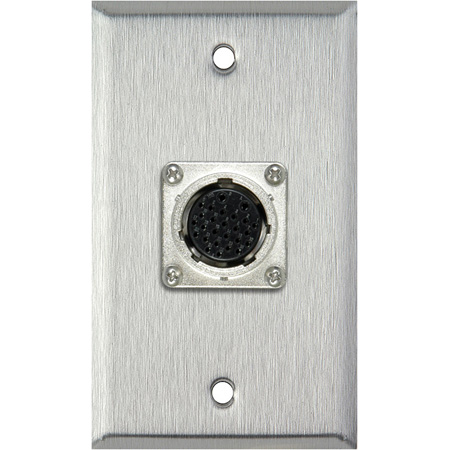 1-Gang Brown Lexan Wall Plate with  EIAJ 26-Pin Female Connector