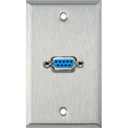 1G White Lexan Wall Plate with One 9-Pin D-Sub Barrel