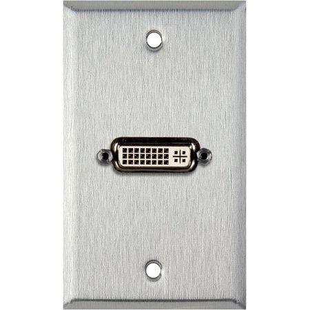 1-Gang Black Anodized Aluminum Wall Plate With 1 DVI Feed-Thru