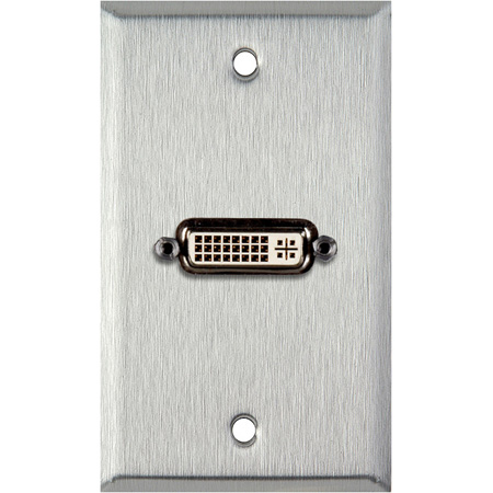 1-Gang Gray lexan Wall Plate With 1 DVI Feed-Thru