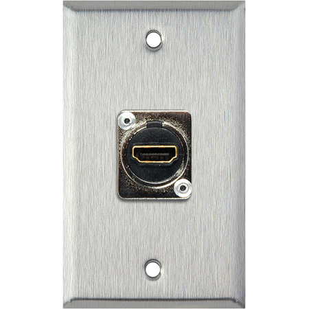 1-Gang Black Anodized Aluminum Wall Plate with (1) HDMI Feedthru