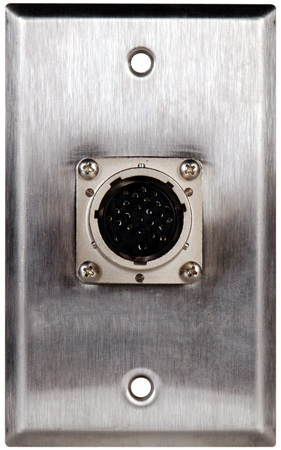 1G Brass Wall Plate with 26 pin Male to Female Feedthrough connector