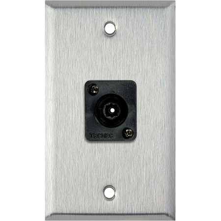 1 Gang Stainless Steel Wall PLate w/ 1 Toslink connector