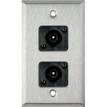 1 Gang Stainless Steel Wall PLate w/ 2 Toslink connectors