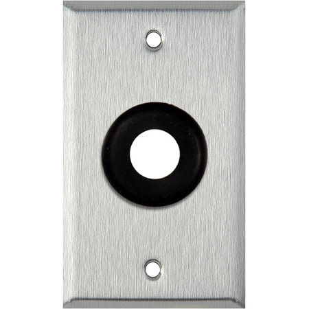 1-Gang Brown Lexan Wall Plate with One 3/4 inch Grommet