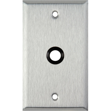 1G Ivory Lexan Wall Plate with One 3/8 inch Grommet
