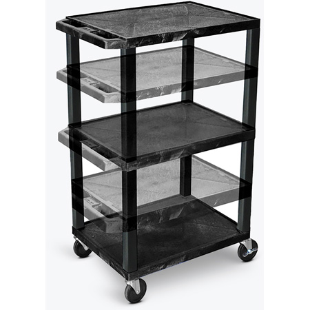 H. Wilson Open Shelf Utility And Audio Visual Carts - (Grey)