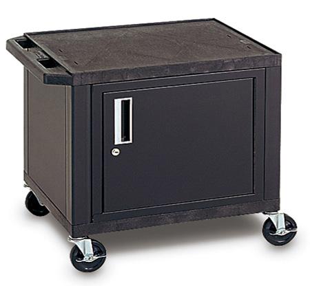 H. Wilson WT34C2E Utility AV Cart 34 Inch High with Black Cabinet