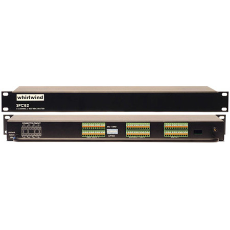 Whirlwind SPC82JT Whirlwind Contractor 8 Channel Rack Mounted Splitter w/ Jensen JT-MB-C Transformers