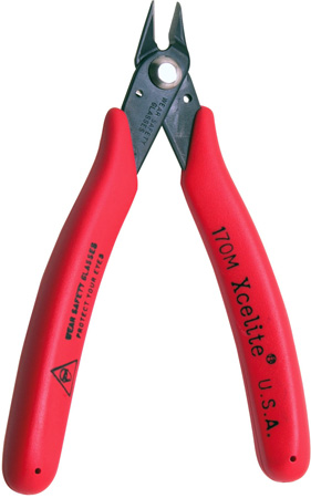 Xcelite 170M Low Profile Diagonal Sheer Cutter With Red Grips