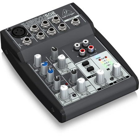 Behringer XENYX 502 Premium 5-Input 2-Bus Mixer with XENYX Mic Preamp