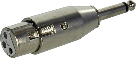 TecNec XLF-SP XLR Female to 1/4 Male Adapter