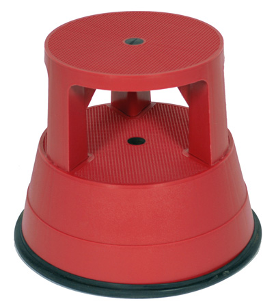 Xtend & Climb Stable Stool 961 Rolling Plastic Step Stool - Red