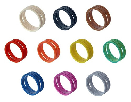 Neutrik XXR-3 Colored Coding Rings for XX Series Connectors - Orange