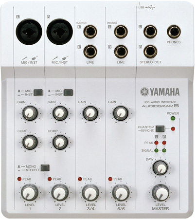 Yamaha AUDIOGRAM6 6-Channel USB Audio Recorder