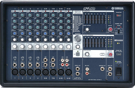 Yamaha EMX212S 8 Input Powered Mixer with 200 Dual Watt Amp