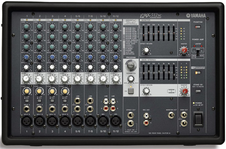 Yamaha EMX512SC 8 Input Powered Mixer with Dual 500 Watt Amp