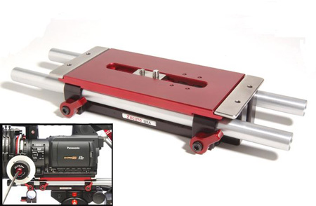 Zacuto Z-UB3 Universal Base Plate - V3 - Includes 12in Rods
