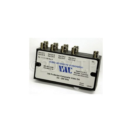 VAC 11-111-108  1x8 Composite Video DA with BNCs