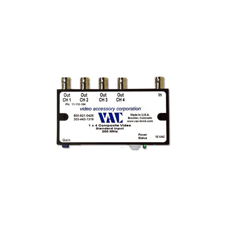 VAC 11-113-104 1x4 Composite Video Distribution Amplifier