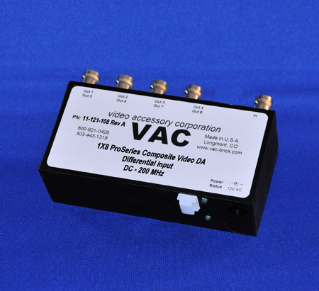 VAC 11-121-108 1x8 Composite Video DA with BNCs