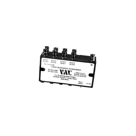 VAC 11-124-108 1x8 Composite Video DA with BNCs