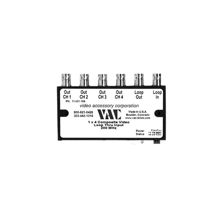 VAC 11-531-104 1x4 Composite Video DA w/ BNCs