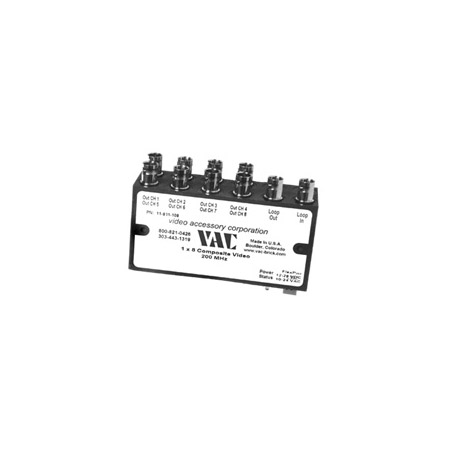 VAC 11-531-108 1x8 Composite Video DA w/ BNCs