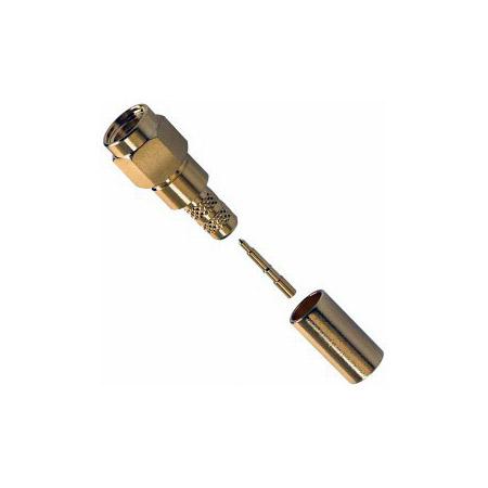 Amphenol 132234RP SMA Reverse Polarized 50 Ohm Straight Crimp Plug RF Connector for LMR-200 BL-7807A