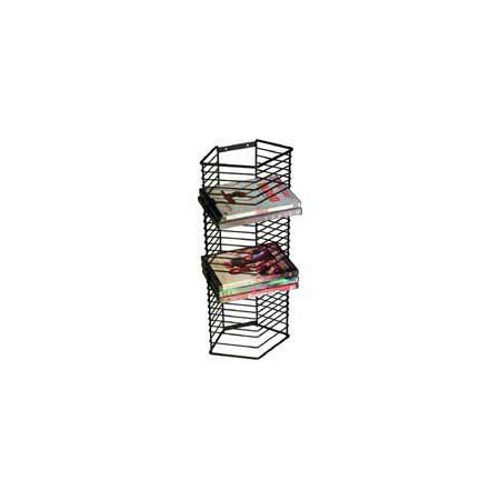 Onyx Matte Black Wire Wall or Stand Alone DVD Rack (28 DVDs)