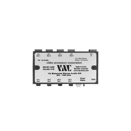 VAC 16-134-604 1x4 Balanced Stereo Audio Distribution Amplifier