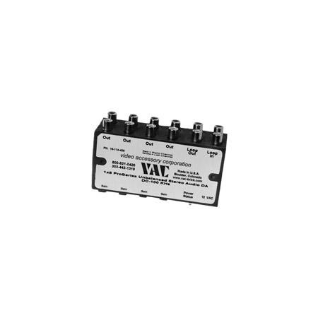 VAC 16-144-404 1x4 Unbal Stereo Audio DA/ Line Level/ RCA Connectors/ 12V AC
