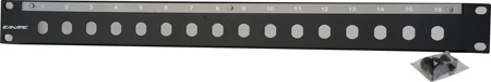 Canare 161U-DD 16 Point Unloaded Double D Patch Panel