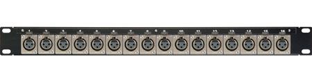 Canare 161U-X12F 16 Point 1RU 8 Male & 8 Female XLR Solder Panel