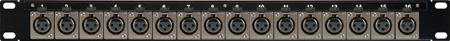 Canare 322U-X1F 32 Point 2RU Female XLR Solder Panel