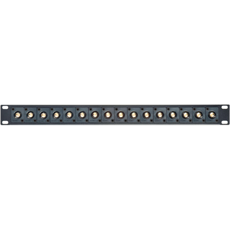 Connectronics 16XB Recessed 75 Ohm BNC Feed-Thru Patchbay - 16 Point - 1RU