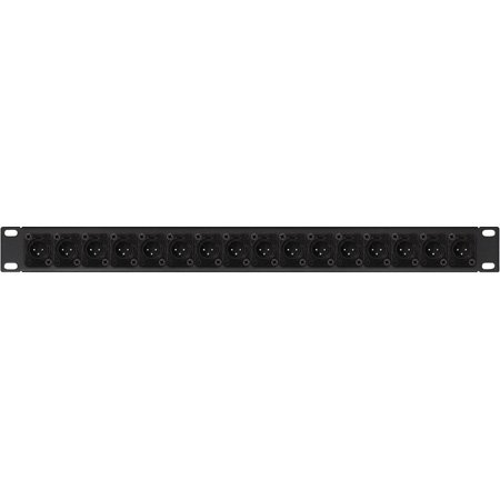Connectronics XLR Male Patch Panel with NC3MD-SCREW Connectors 8-Point - 1RU