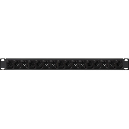 Connectronics XLR Male Patch Panel with NC3MD-SCREW Connectors 16-Point - 1RU