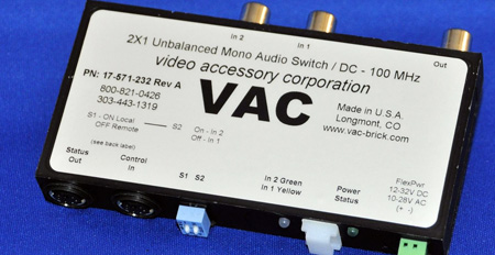 VAC 17-571-232 2x1 Unbalanced Mono Audio Switch