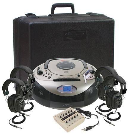 Califone 1886PLC 4-Person Spirit SD Stereo Listening Center