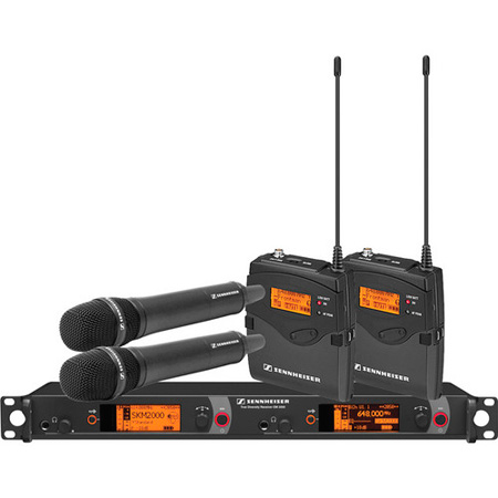 Sennheiser 2000C2-835BK 2000 Series Dual Combo Wireless Microphone System - Ch B